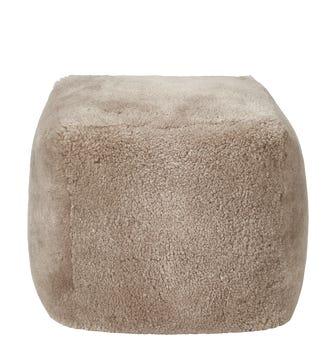 Hirta Sheepskin Floor Cushion - Pebble Grey