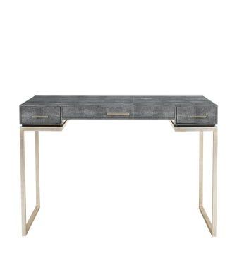 Honshu Faux Shagreen Desk/Dressing Table - Onyx