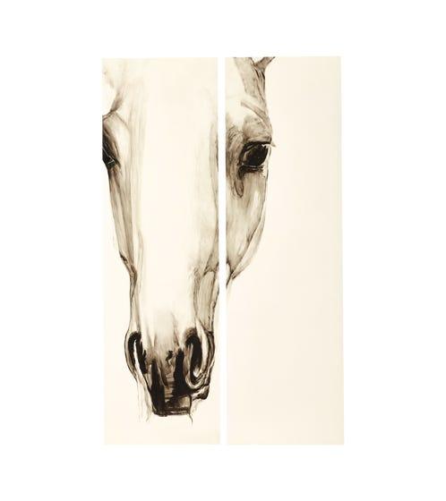 Horse Head Wall Panels - Black / White