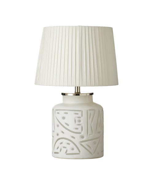 Illapa Etched Glass Table Lamp - White