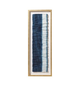 Indigofera Framed Textile - Indigo