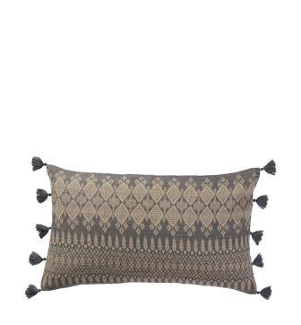 Ipazi Cushion Cover(60x35cm) - Natural/Grey
