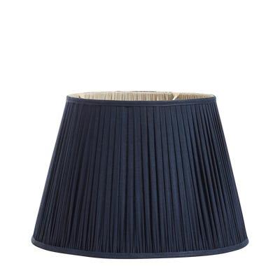 Iro Pleated Linen Lampshade 45cm - Navy