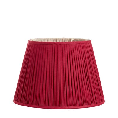 Iro Pleated Linen Lampshade 45cm - Venetian Red