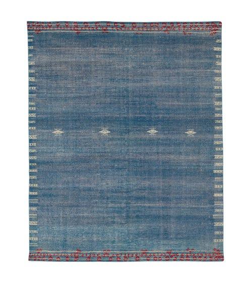 Isparta Rug - Slate Blue/Red
