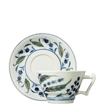 Isphahan Breakfast Tea Cup & Saucer - Multi
