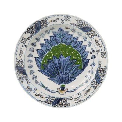 Isphahan Porcelain Dinner Plates, Set of 4