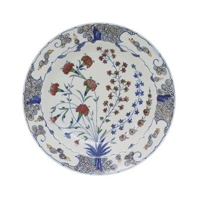 Isphahan Porcelain Plates, Set of 4