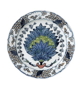 Isphahan Porcelain Starter Plates, Set of 4