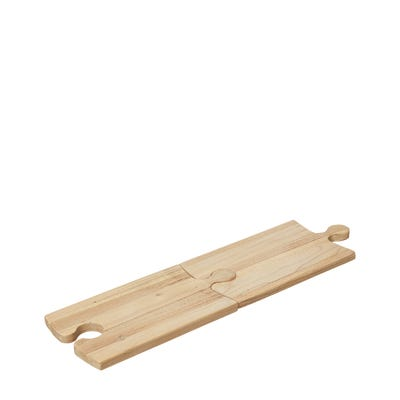 Pair of Jigsaw Puzzle Wooden Cutting Boards - Natural