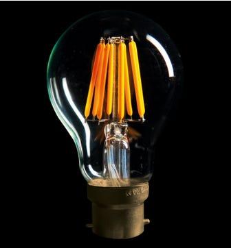 Globe 6W B22 LED Lightbulb - Warm White