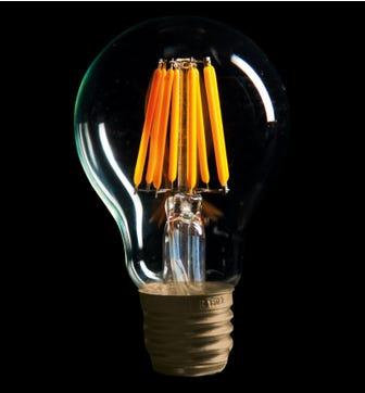 Globe 6W E27 LED Lightbulb - Warm White
