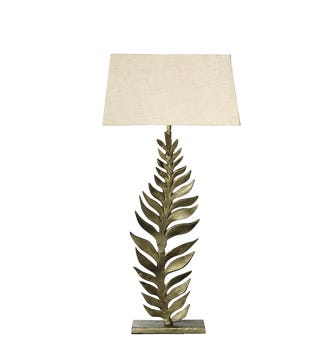 Frond Table Lamp - Antique Gold