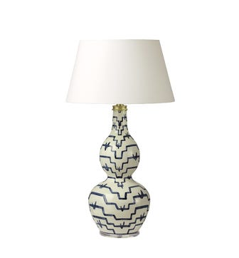 Egon Table Lamp - White/Blue