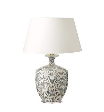 Kutcharo Table Lamp - White/Blue