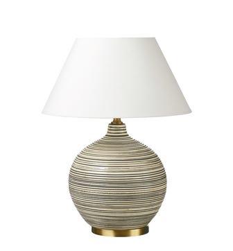 Duffy Table Lamp - Charcoal/Cream