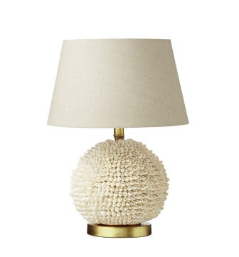Cowrie Table Lamp - Shell White