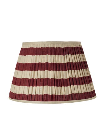 50cm Warna Silk Pleated Lampshade - Red
