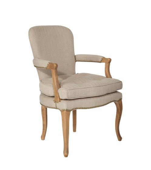 Juliette French Salon-Chair, Oak Frame - Weathered Oak