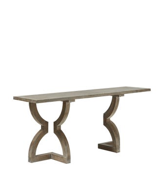 Kaishu Console Table - Watered Grey