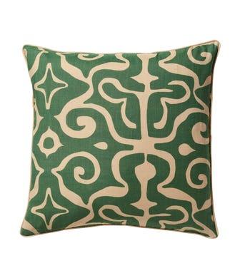 Kawa Kaleidoscope Cushion Cover - Jade Green