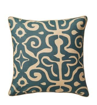 Kawa Kaleidoscope Cushion Cover - Dark Cerulean