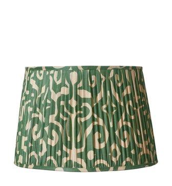 Kawa Pleated Drum Lampshade 35cm - Jade Green