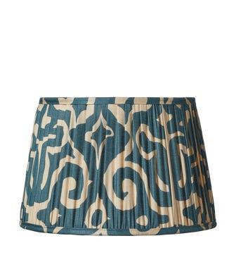 Kawa Pleated Drum Lampshade 35cm - Dark Cerulean