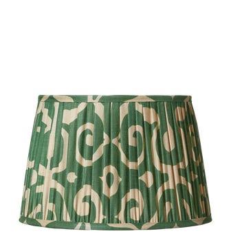 Kawa Pleated Drum Lampshade 50cm - Jade Green