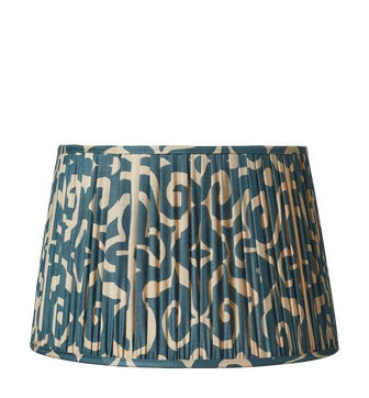 Kawa Pleated Drum Lampshade 50cm - Dark Cerulean