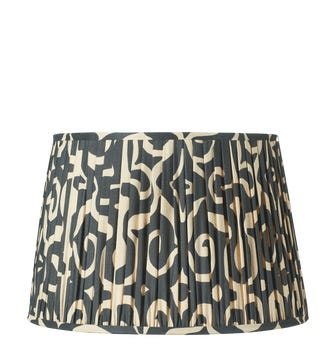 Kawa Pleated Drum Lampshade & Carrier (50) - Jet