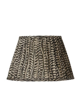 Knife Pleated Empire Lampshade - 14in / 36cm - Linen - Eclipse Black
