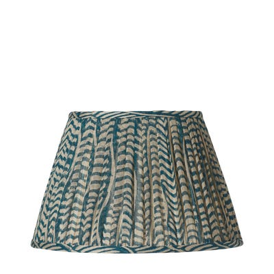 Knife Pleated Empire Lampshade - 17.5in / 45cm - Linen - Eclipse Indigo