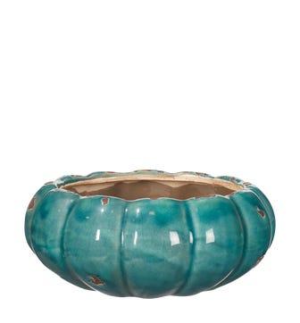 Kolokythi Wide Decorative Bowl - Aruba Blue