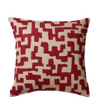 Labirinto Cushion Cover - Venetian Red