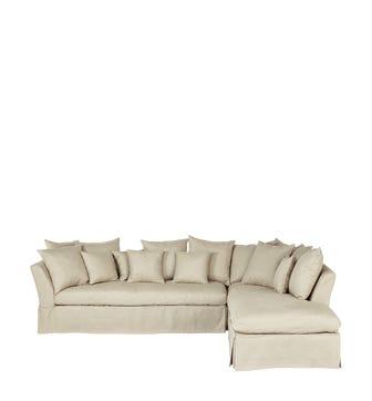 Lamorna Left Hand Corner Sofa - Natural Cover