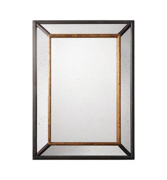 Large Cesario Mirror - Black/Gold