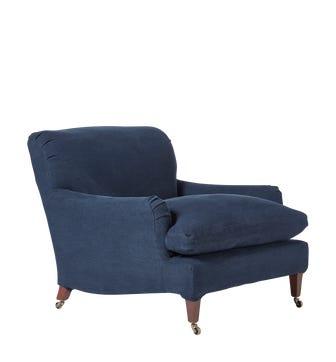 Large Coleridge Armchair - Pure Navy