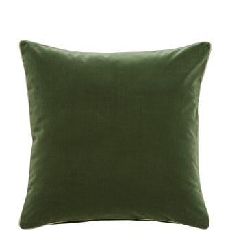 Large Plain Velvet Pillow Cover - Moss