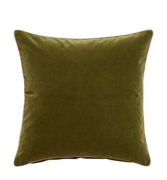 Large Plain Velvet Pillow Cover - Spruce