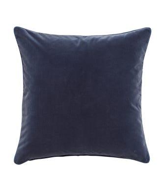 Large Plain Velvet Pillow Cover - Sapphire