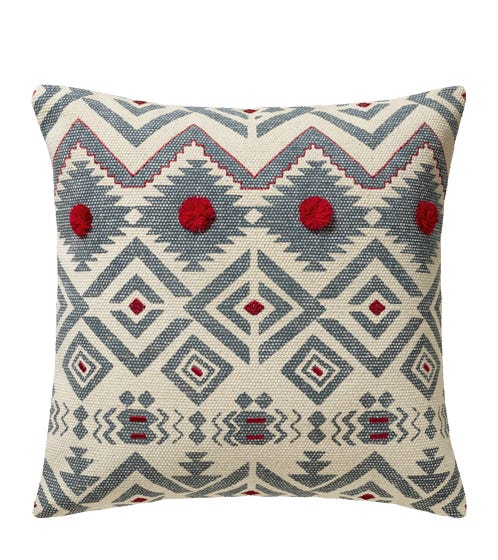 Large Yuma Pillow Cover - Blue/Red
