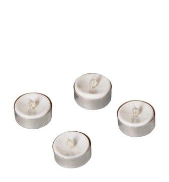 LED Tea Lights, Set of 4 - White