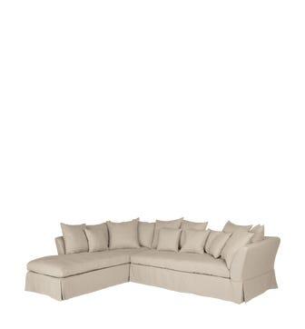Left Hand Version Lamorna Corner Sofa - Natural