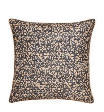 Lelie Pillow Cover - Ebony