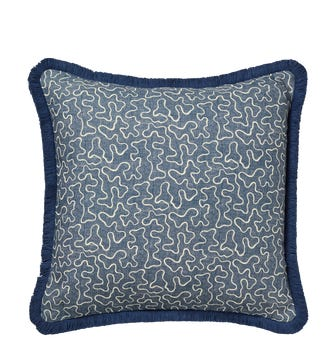Leptoria Cushion Cover - Ink Blue
