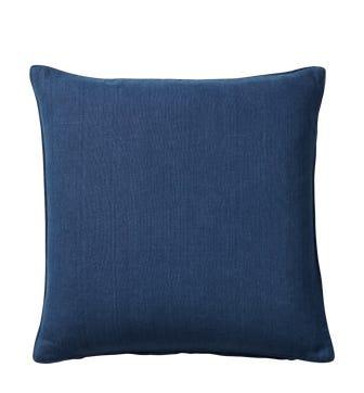 Plain Linen Cushion Cover - Deep Blue