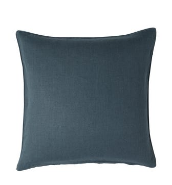 Linen Cushion Cover, Large - Ink Blue