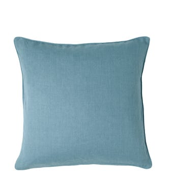 Linen Cushion Cover, Large - Mid Blue