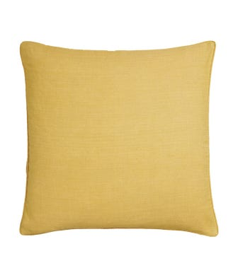 Linen Cushion Cover, Large - Citrine